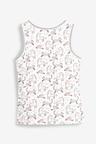 Next White 3 Pack Unicorn Vests (1-12yrs)