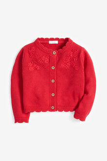 Next Red Embroidered Cardigan - 251545