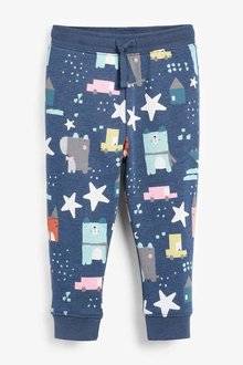 Next Navy All Over Print Joggers (3mths-7yrs) - 251557