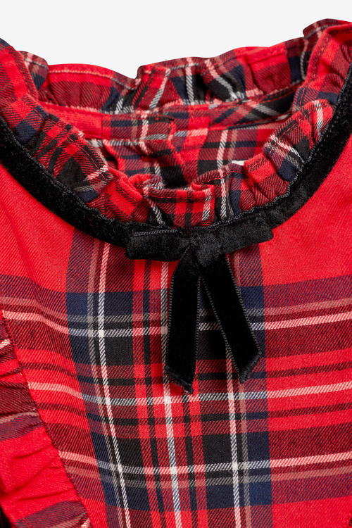 Next Red Ruffle Dress