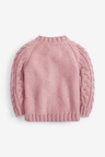 Next Pink Cable Cardigan