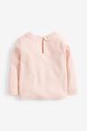 Next Pale Pink Long Sleeve Collar Top (3mths-7yrs)