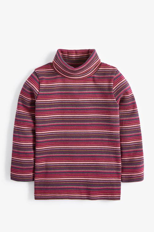 Next Purple Stripe Roll Neck T-Shirt (3mths-7yrs)