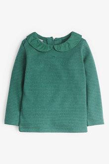 Next Green Long Sleeve Collar Top (3mths-7yrs) - 251570