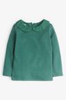 Next Green Long Sleeve Collar Top (3mths-7yrs)