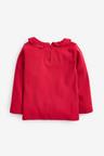 Next Red Long Sleeve Collar Top (3mths-7yrs)