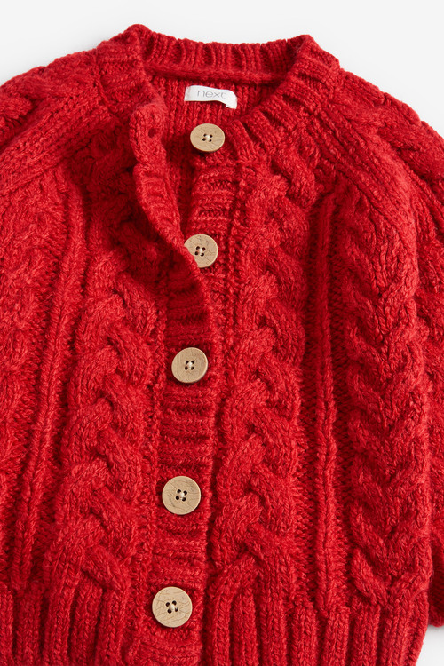 Next Red Cable Cardigan