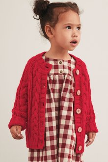 Next Red Cable Cardigan - 251574