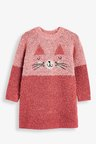Next Pink Cat Jumper Dress