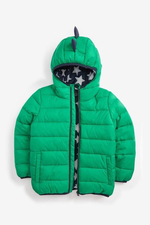 Next Green Dino Padded Jacket (3mths-7yrs)