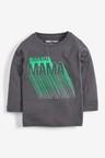 Next Charcoal Long Sleeve Cool Like Mama T-Shirt (3mths-7yrs)