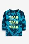 Next Blue Long Sleeve Yeah Tie Dye T-Shirt (3mths-7yrs)