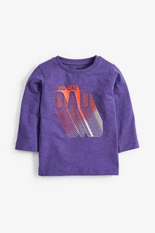 Next Purple Long Sleeve Rad Like Dad T-Shirt (3mths-7yrs) - 251627