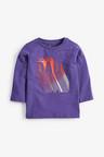 Next Purple Long Sleeve Rad Like Dad T-Shirt (3mths-7yrs)
