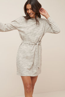 Next Grey High Neck Long Sleeve Dress - 251657