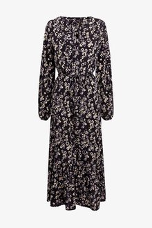 Next Animal Print Midi Tiered Dress - 251672