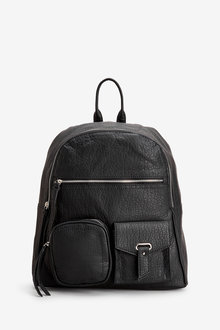 Next Black Utility Pocket Rucksack - 251682