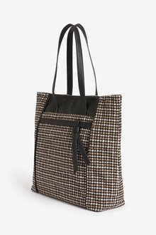 Next Monochrome Knot Detail Shopper Bag - 251683