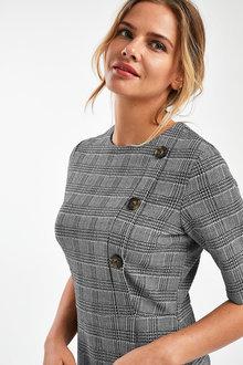 Next Monochrome Jacquard Dress - 251716