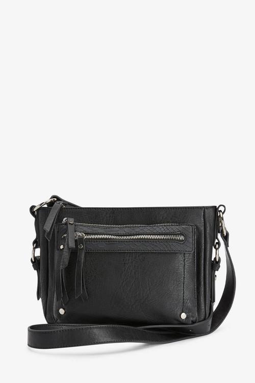 Next Black Utility Detail Across Body Bag