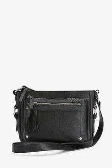Next Black Utility Detail Across Body Bag - 251726