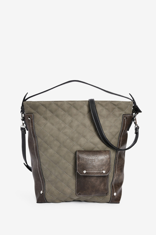 Next Green Quilted Hobo Bag