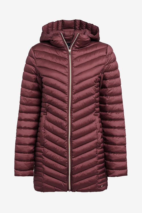 Next Pink Long Wadded Packable Jacket
