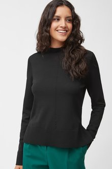 Next Black Funnel Neck Jumper - 251761