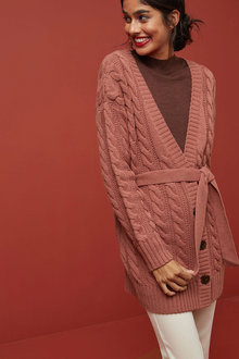 Next Rose Belted Cable Cardigan - 251771