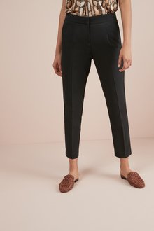 Next Black Elastic Back Tapered Trousers - 251795