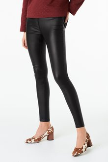 Next Black Pull-On Coated Leggings - 251798