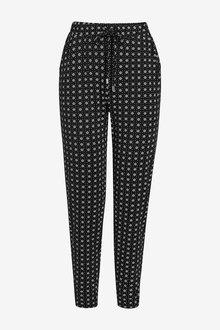 Next Black Print Jersey Joggers - 251818
