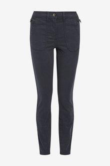 Next Navy Utility Skinny Trousers - 251823