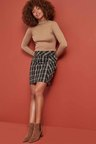 Next Chocolate Check Mini Skirt