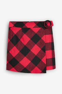 Next Red/Black Check Mini Skirt - 251834