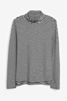 Next Monochrome Stripe Long Sleeve Roll Neck Top - 251836