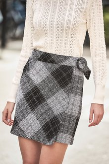Next Monochrome Check Mini Skirt - 251842