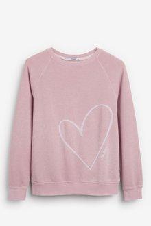 Next Blush Heart Graphic Sweatshirt - 251855