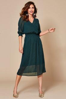 Kaleidoscope Chevron Cross Front Dress - 251935