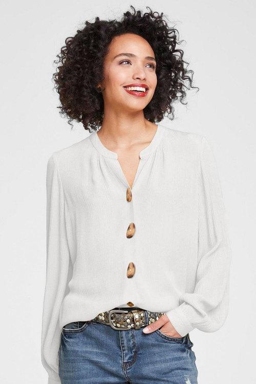 Heine Crinkle Button Detail Shirt