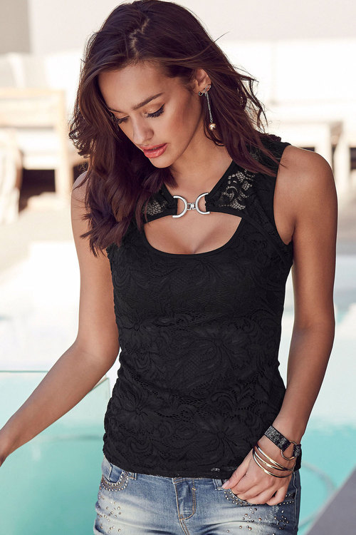 Urban Front Lace Detail Top