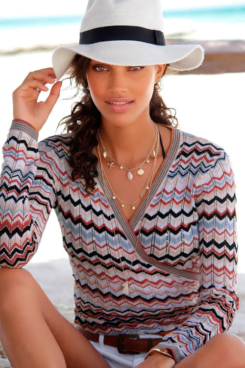 Urban Ajour Crossover Knit Top
