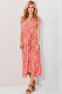 Kaleidoscope Hi Low Abstract Print Dress - 251995