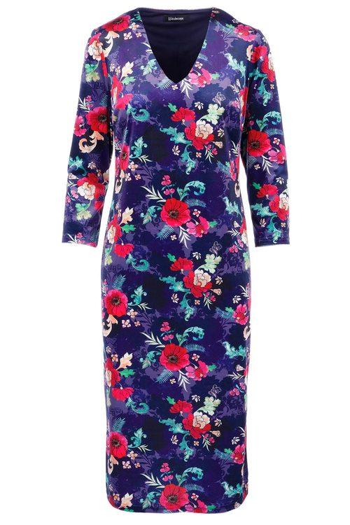 Kaleidoscope Floral Velvet Dress