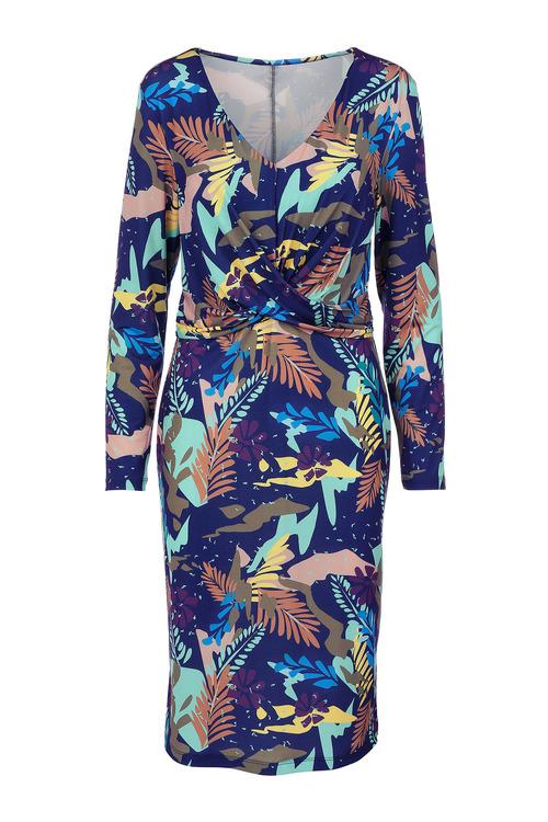 Kaleidoscope Cross Over Detail Dress