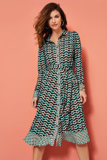 Kaleidoscope Geo Shirt Dress - 252001