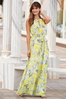 European Collection Abstract Halter Neck Dress - 252006
