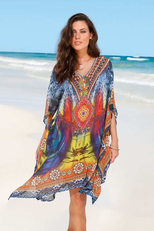 Euro Edit Printed Kaftan Dress