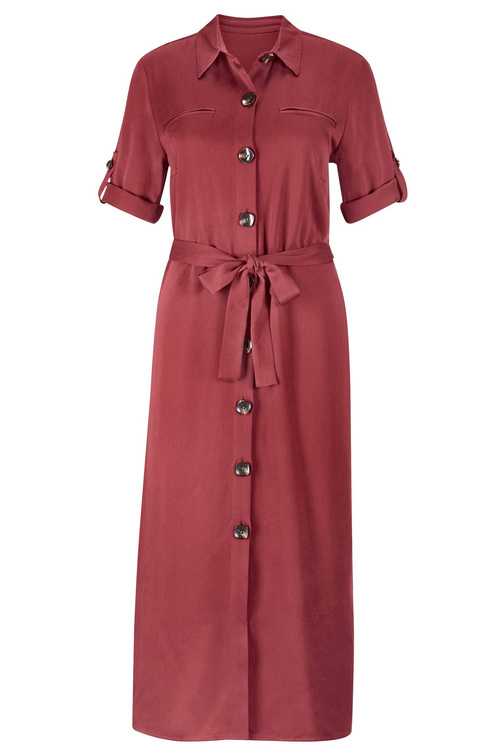 Euro Edit Buttoned Shirt Dress