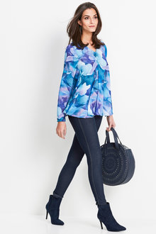 Euro Edit Watercolour Print Top - 252025